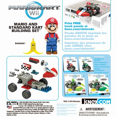 K'NEX Mario and Standard Kart Building Set