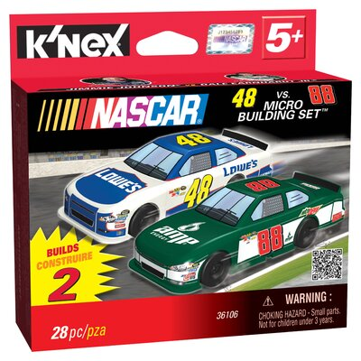 K'NEX NASCAR 48 Lowes and 88 Amp Energy Micro Scale Building Set
