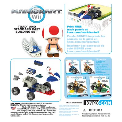 K'NEX Nintendo Toad and Standard Kart Building Set