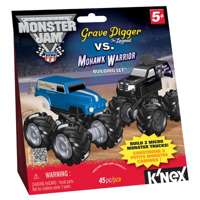 K'NEX Grave Digger Legend / Mohawk Warrior Micro Building Set