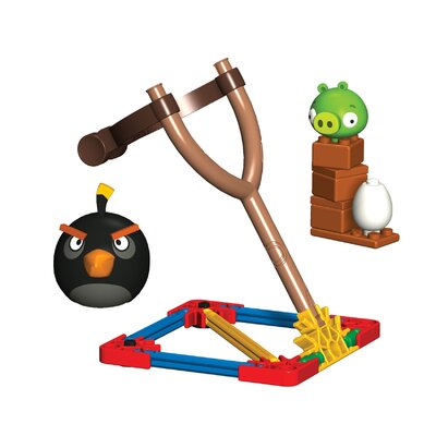 K'NEX Angry Birds Black Bird and Small Minion Pig Building Set