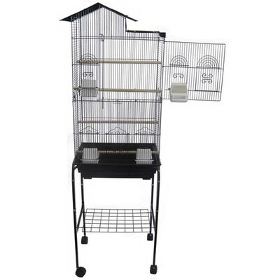 YML Villa Top Small Bird Cage with Stand