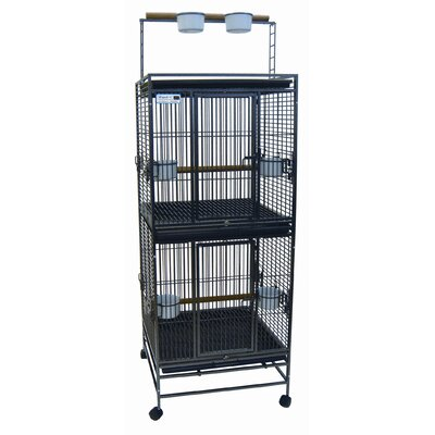 YML Play Top Wrought Iron Double Bird Cage