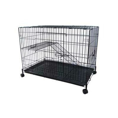YML 2 Level Pet Cage in Black