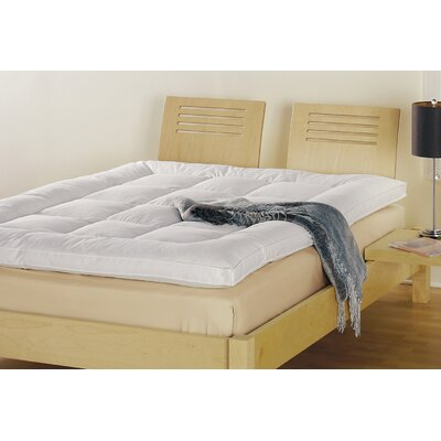 "Down Inc. 2.5"" Bordered Baffled Box 50% Snow White Down and 50% Small White Duck Featherbed"