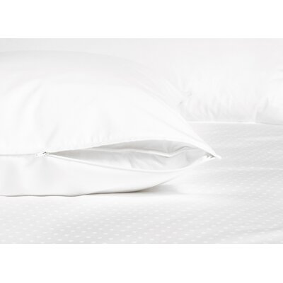 Down Inc. Serenity 360 Thread Count Cotton Sateen Travel Zippered Pillow Protector