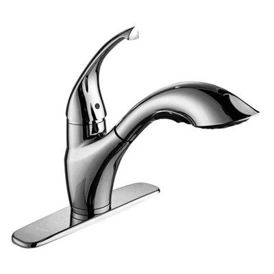 Single Handle Single Hole Kitchen Faucet with Pull-Out Spray