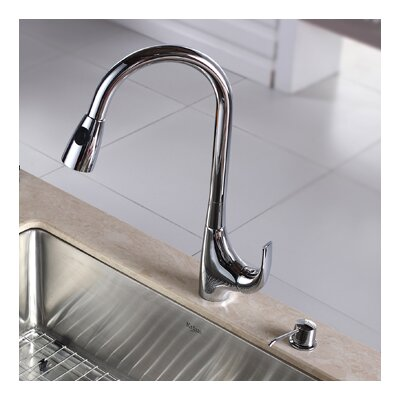 Single Handle Single Hole Kitchen Faucet with Lever Handle