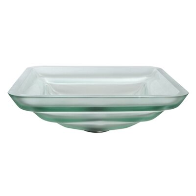 Kraus Oceania Frosted Clear Glass Vessel Bathroom Sink