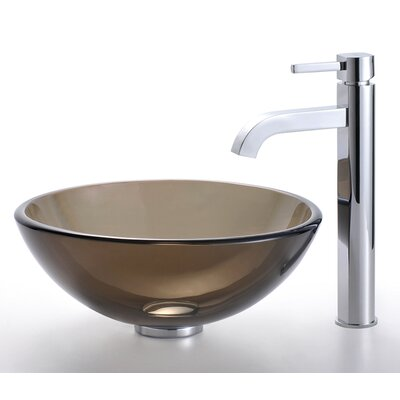 Kraus Glass Vessel Sink in Brown