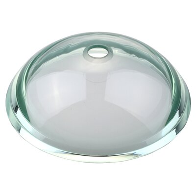 Kraus Clear 34mm Edge Glass Vessel Sink