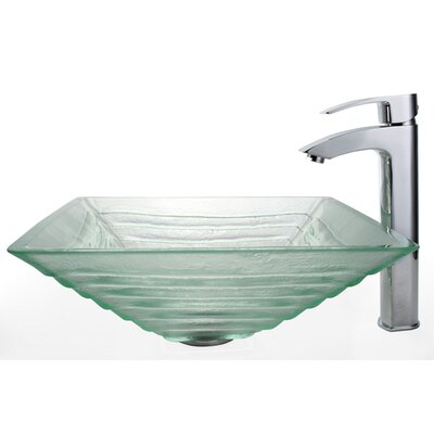 Kraus Alexandrite Vessel Bathroom Sink with Faucet