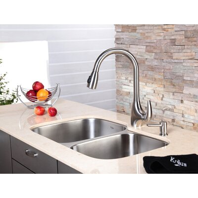 Kraus One Handle Single Hole Kitchen Faucet with Pull-Down Spray Head