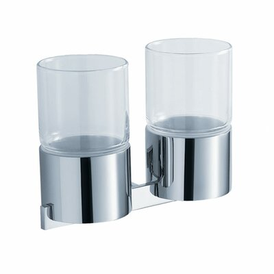 Kraus Aura Wall-mounted Double Glass Tumbler Holder