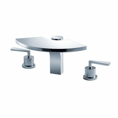 Bathroom Combos Widespread Waterfall Fantasia Faucet with Double Lever Handles - KEF-14803CH