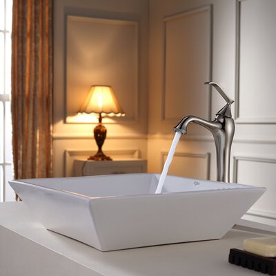 Bathroom Combos Bathroom Sink with Single Handle Single Hole Ventus Faucet - C-KCV-125-15000CH