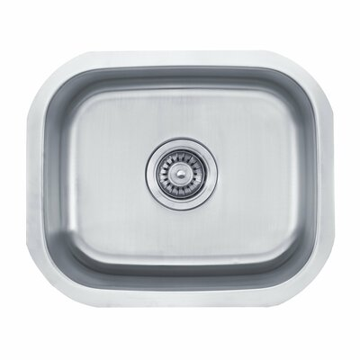 "Kraus 18"" x 15"" 3 Piece Undermount Single Bowl Kitchen Sink"