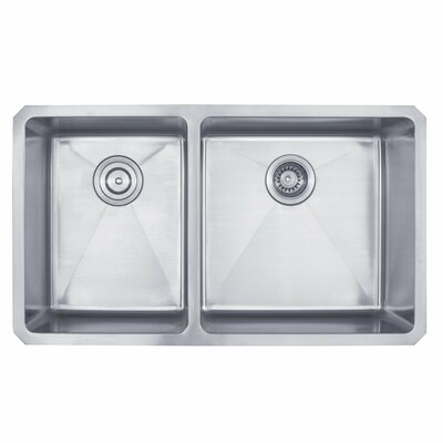Kraus 33 inch Undermount 60/40 Double Bowl Stainless Steel Kitchen Sink