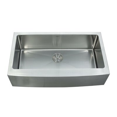 "Kraus 35.88"" x 20.75"" Farmhouse Kitchen Sink with Faucet and Soap Dispenser"