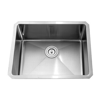 "Kraus 23"" x 18"" Undermount Single Bowl Kitchen Sink with Faucet"