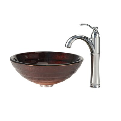 Iris Vessel Sink with Riviera Faucet - C-GV-693-19mm-1005