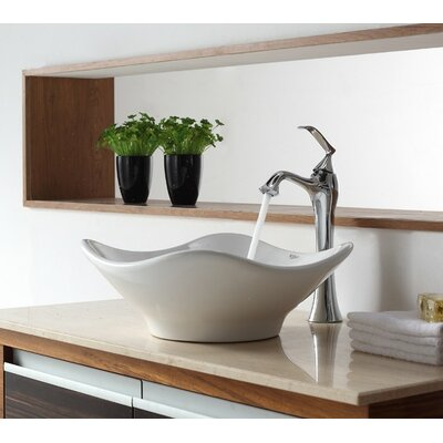 Bathroom Combos Bathroom Sink with Single Handle Single Hole Ventus Faucet - C-KCV-135-15000CH