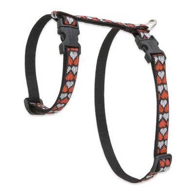"Lupine Pet Love Struck 1/2"" Adjustable H-Style Cat Harness"