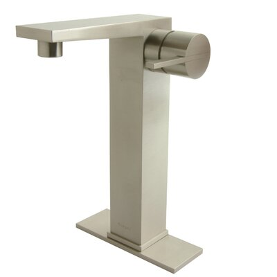 Contemporary Single Hole Bathroom Faucet with Single Handle - MV1-BN