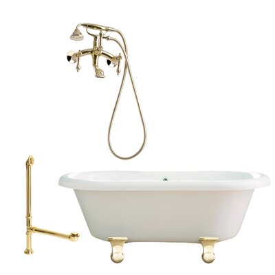 "Giagni Portsmouth 60"" Dual Tub with Wall Mount Faucet"