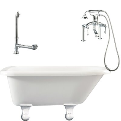 "Giagni Brighton 60"" x 30"" Roll Top Bathtub"