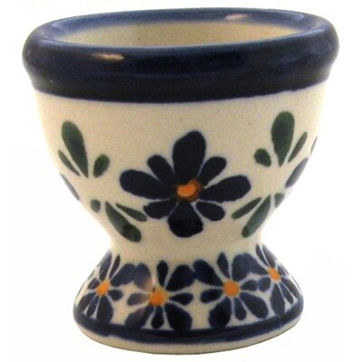 "Euroquest Imports Polish Pottery 2"" Egg Cup - Pattern DU60"