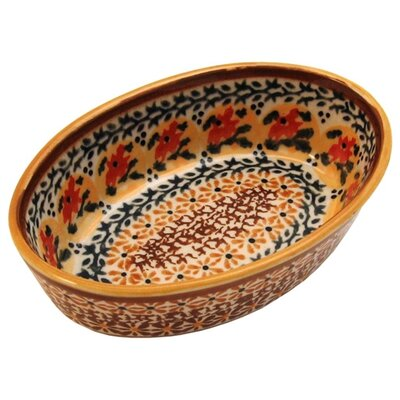 "Euroquest Imports Polish Pottery 6"" Oval Baking Pan"