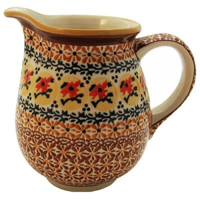 Euroquest Imports Polish Pottery 28 oz Pitcher - Pattern DU70