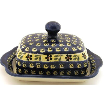 Euroquest Imports Polish Pottery Butter Dish