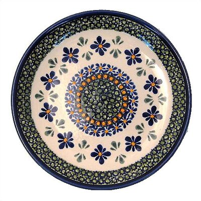 "Euroquest Imports Polish Pottery Pattern DU60 11"" Dinner Plate"
