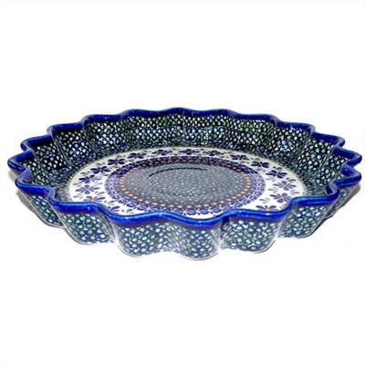 "Euroquest Imports Polish Pottery 10.25"" Fluted Pie Plate"