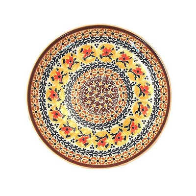 "Euroquest Imports Polish Pottery Pattern DU70 11"" Dinner Plate"