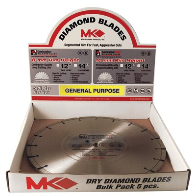 "MK Diamond 12"" Contractor Plus™ Diamond Blade  167482"