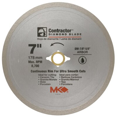 "MK Diamond 7"" Contractor™ Diamond Blade  167029"