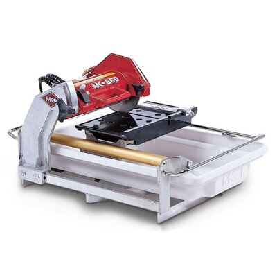 "MK Diamond MK-660 0.75 HP 120 V 7"" Blade Capacity Electric Wet Cutting Tile Saw"