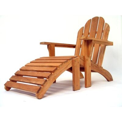 Aussie Outdoor Teak Furniture Cape Cod Deck Chair and Stool