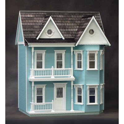 Real Good Toys Finished Princess Anne Dollhouse in Blue