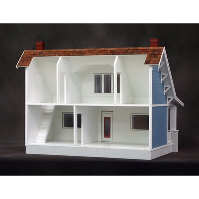 Real Good Toys Classic Bungalow Dollhouse in Milled Plywood