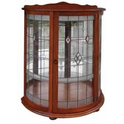 MAT Fine Furniture Classic Half Crystal Display with Cabinet