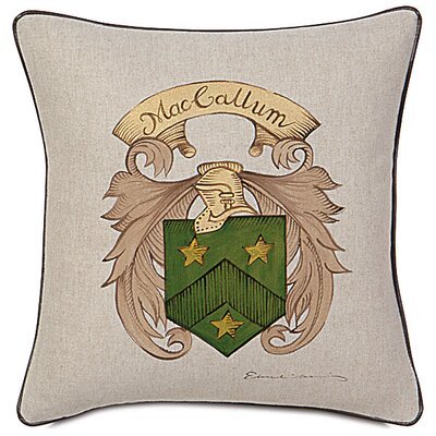 Eastern Accents MacCallum Hand Painted Name Crest Decorative Pillow