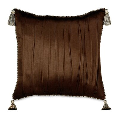 Eastern Accents Bellezza Polyester Shantung Decorative Pillow with Tassels