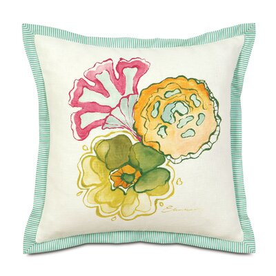 Portia Hand-Painted Motif Polyester Decorative Pillow