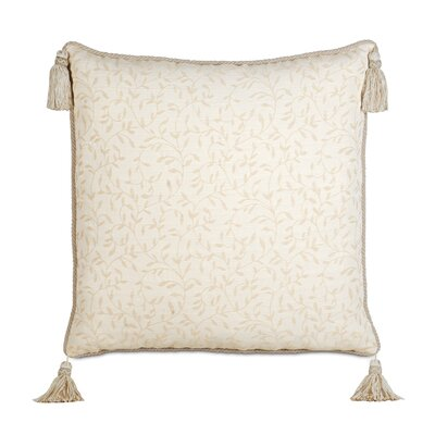 Brookfield Polyester Hayes Blossom Decorative Pillow with Cord and Tassels