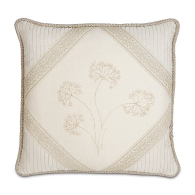 Brookfield Polyester Hand-Painted Diamond Decorative Pillow