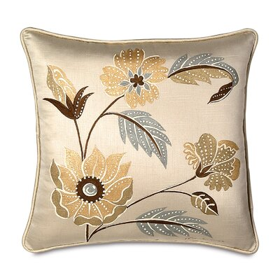Eastern Accents Bellezza Polyester Hand-Painted Decorative Pillow with Small Welt